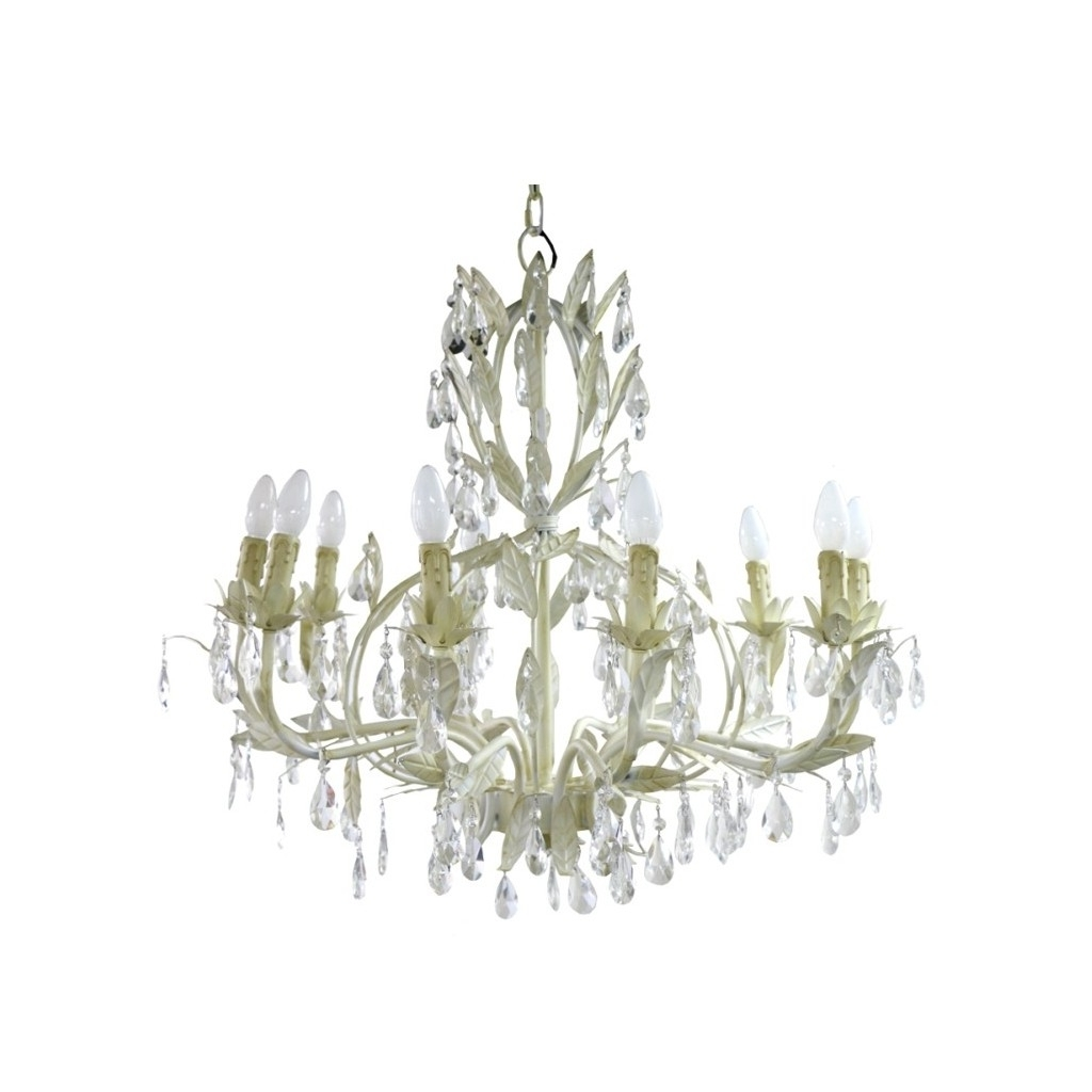 Florence Chandelier Large Cream (View 5 of 15)