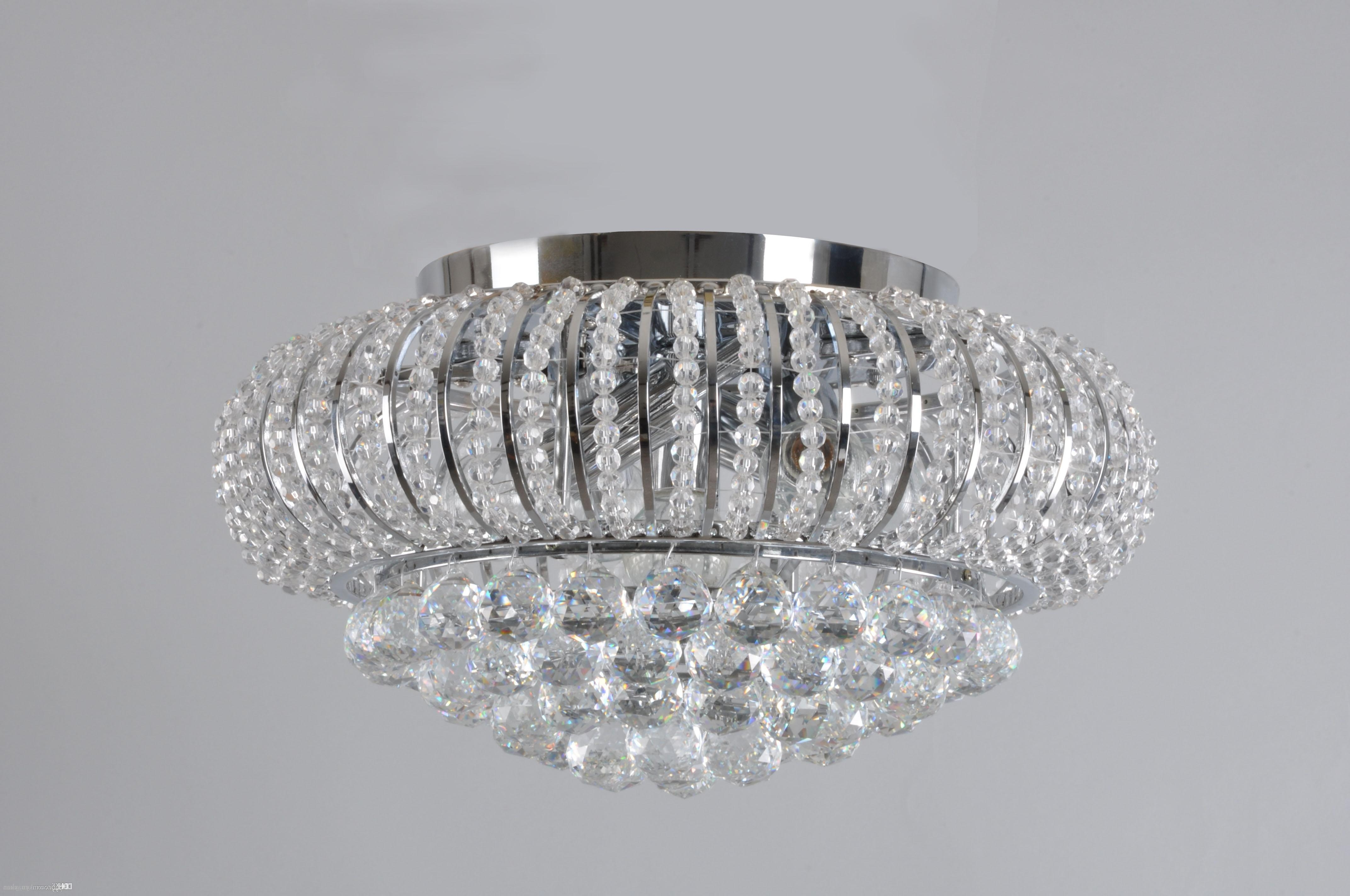 Flush Chandelier Ceiling Lights Pertaining To Popular 2018 Ceiling Lights Living Room Bed Room Crystal Ceiling Lights Star (View 7 of 15)