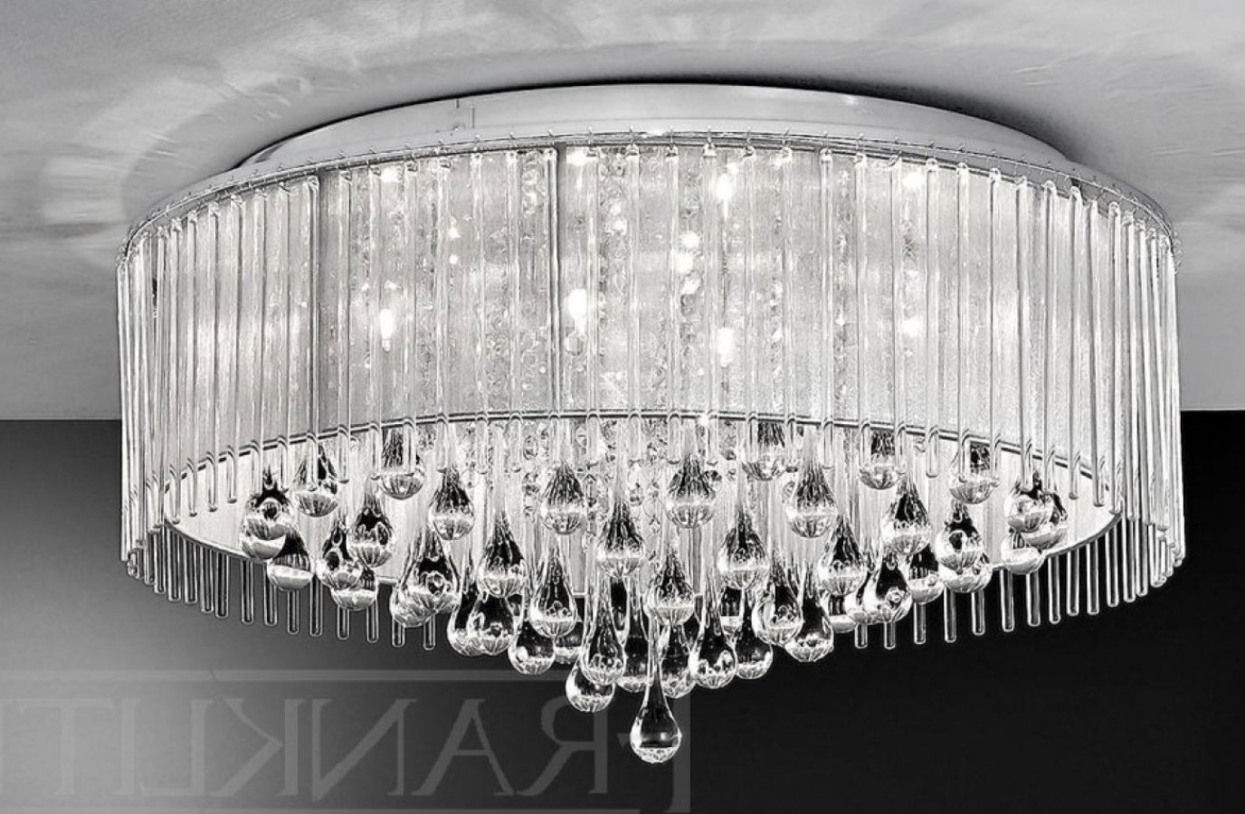 Flush Chandelier Ceiling Lights Pertaining To Preferred Light : Amazing Flush Chandelier Ceiling Lights Semi Mount Sku V (View 2 of 15)