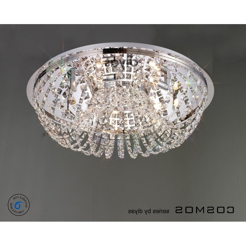 Flush Chandelier Ceiling Lights Throughout Most Recent Images Of Crystal Flush Ceiling Light – Home Decoration Ideas (View 9 of 15)