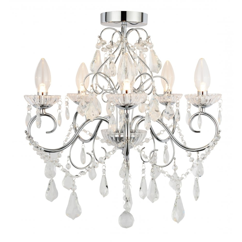 Flush Fitting Chandelier Regarding Trendy Captivating 40+ Bathroom Chandeliers Ip44 Design Decoration Of (View 6 of 15)