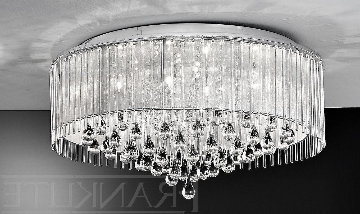 Flush Fitting Chandelier With Regard To Well Known Franklite Spirit 8 Light Flush Ceiling Light (View 14 of 15)