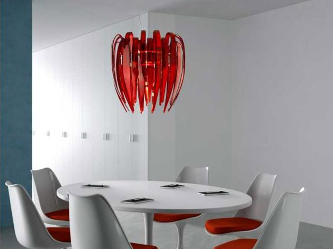 Foxy Modern Light Fixtures With Red Chandelier On Plain Ceiling For Current Modern Red Chandelier (View 4 of 15)