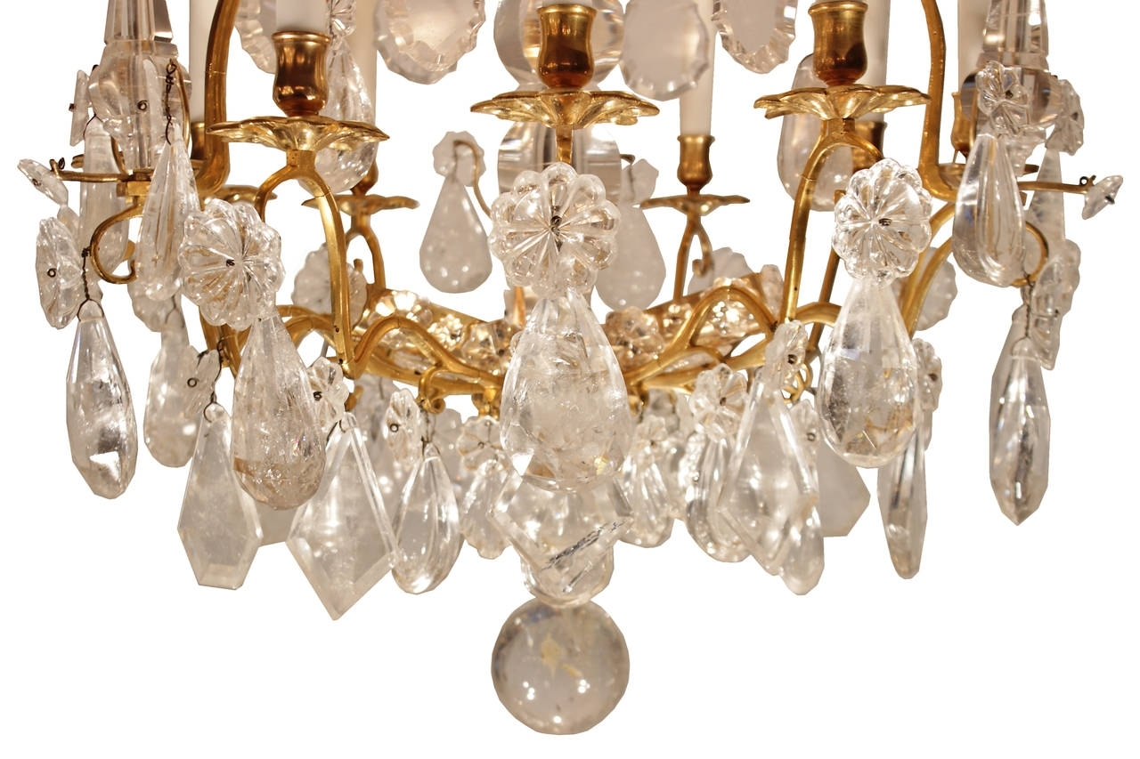 French Mid 18Th Century Louis Xv Period Rock Crystal And Ormolu Regarding 2017 French Crystal Chandeliers (View 9 of 15)