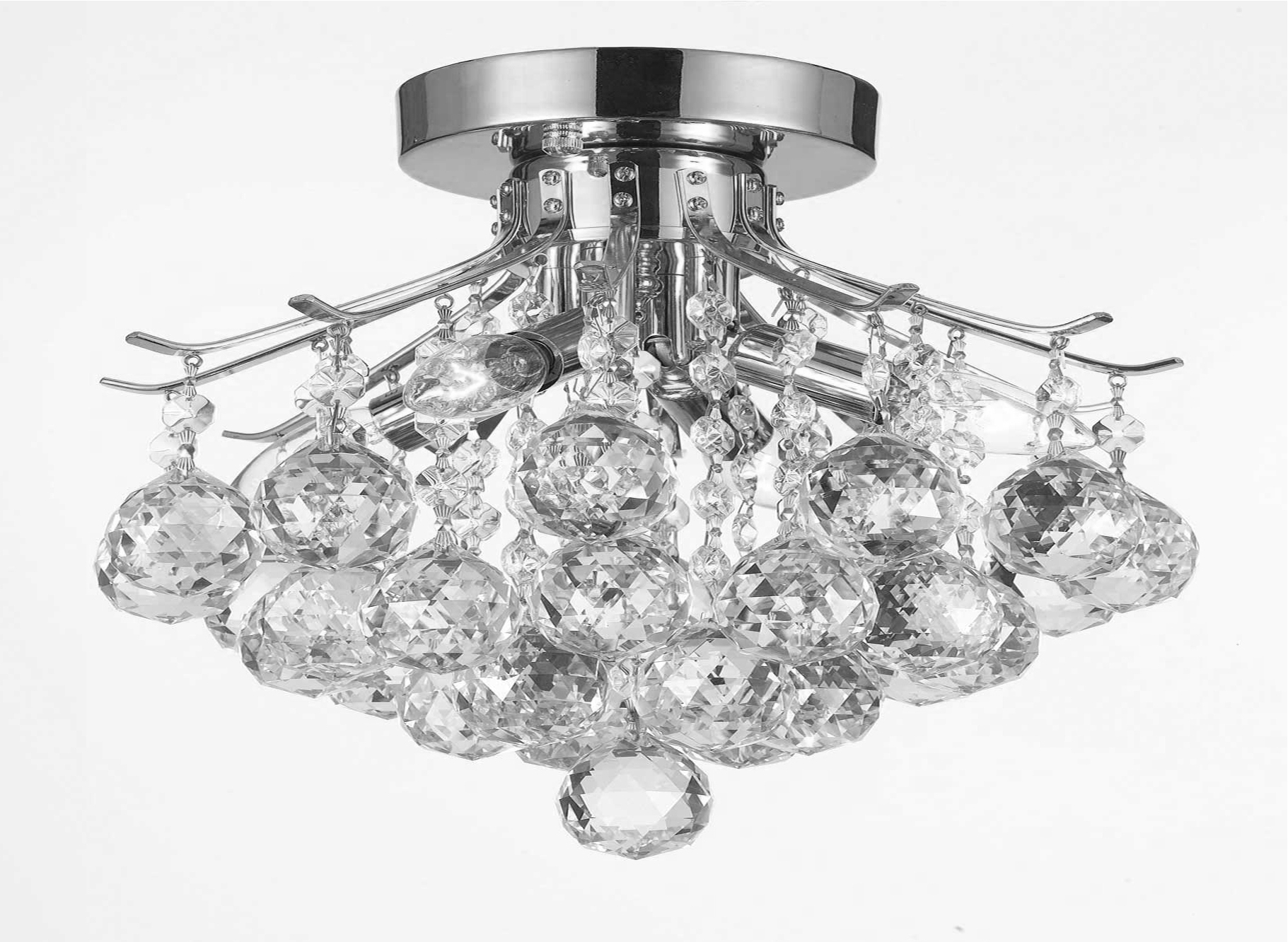 G7 Cs/1132/4 Gallery Empire Style Empire Crystal Chandelier With Most Up To Date Wall Mount Crystal Chandeliers (View 2 of 15)