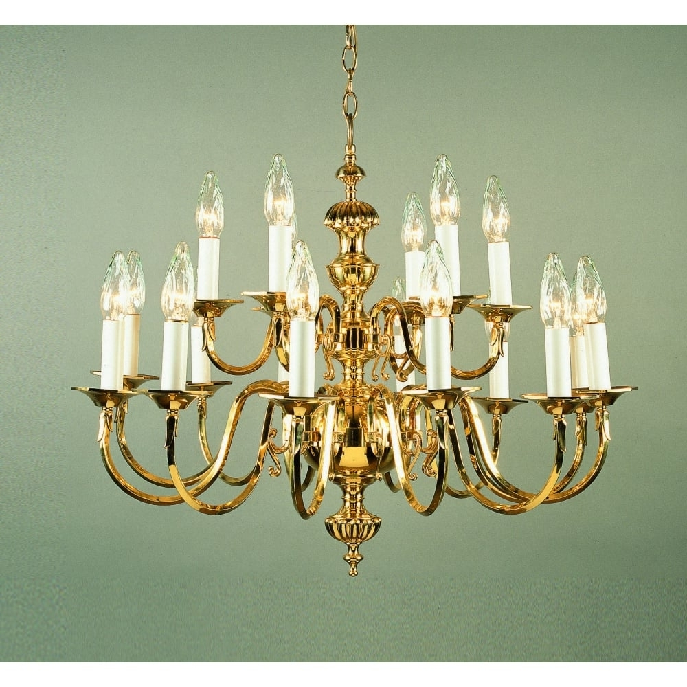 Georgian Chandelier in Well-known Impex Lighting Ghent 18 Light Cast Brass Georgian Chandelier Bf19119