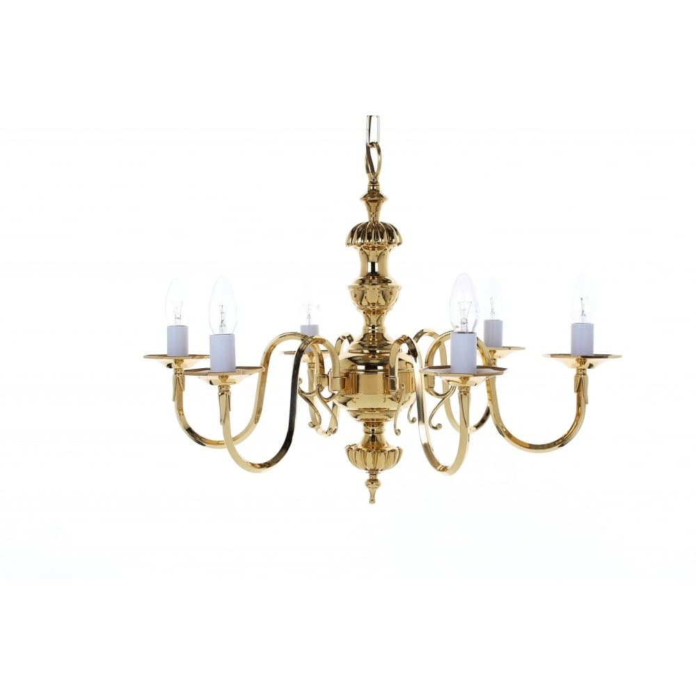 Georgian Chandelier Inside Well Liked Impex Lighting Ghent 6 Light Cast Brass Georgian Chandelier Bf (View 3 of 15)