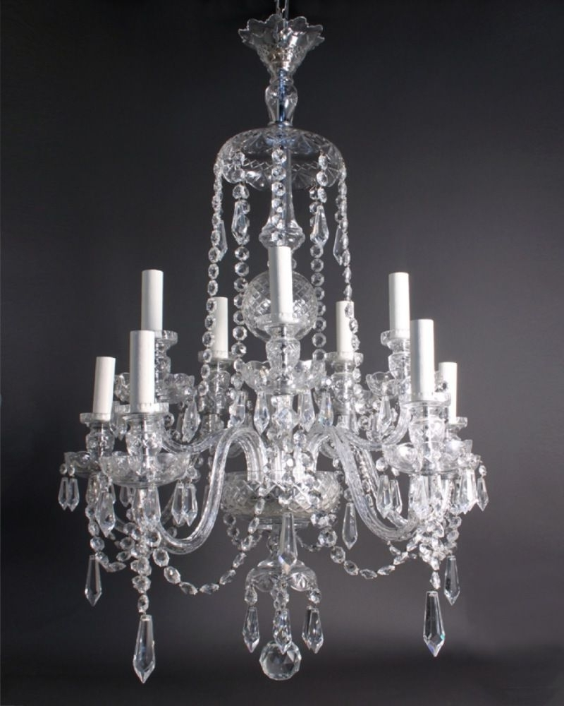 Georgian Chandeliers For Current Antique Crystal Chandeliers In Interior Decor Home With Antique (View 6 of 15)