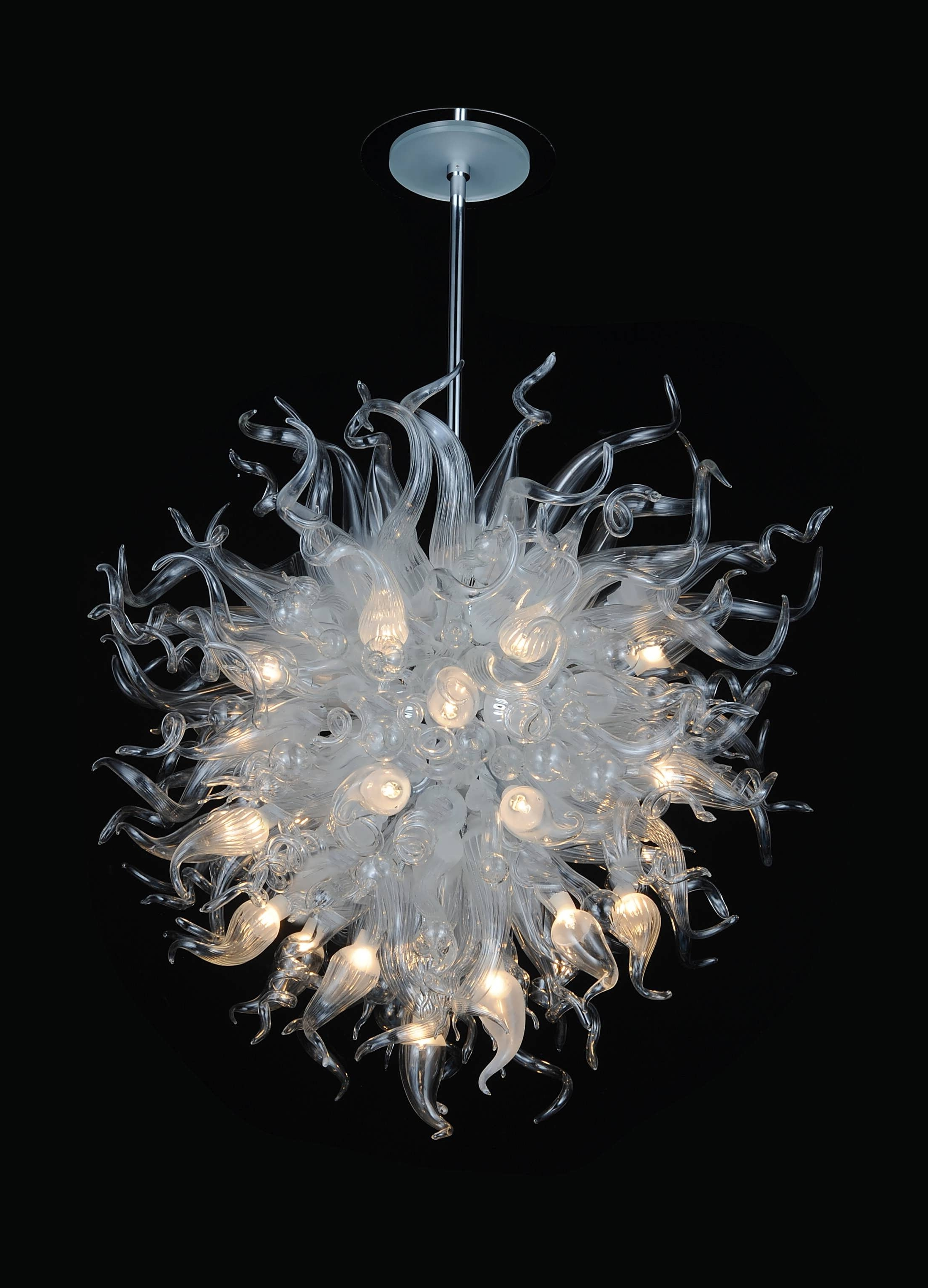 Glass Chandeliers For Well Liked Light : Glass Chandelier Shades Ceiling Lights Blown Artist Lighting (View 4 of 15)