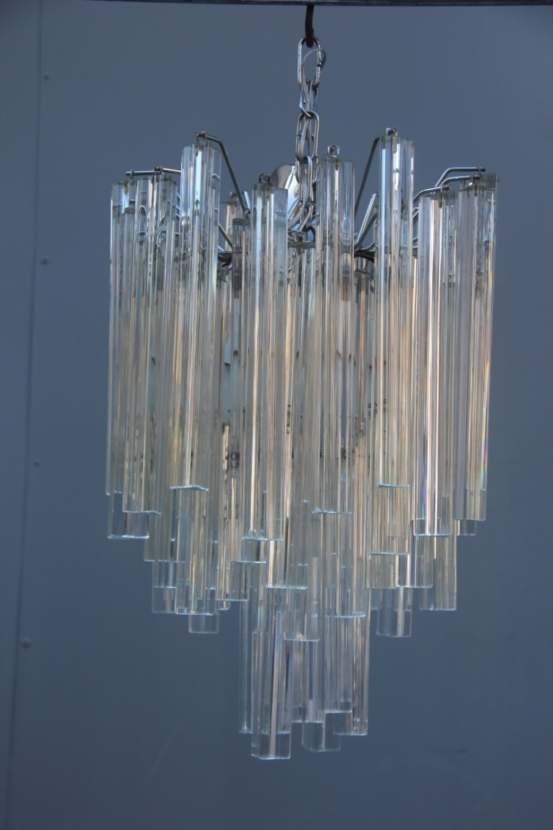 Glass Chandeliers With Regard To Favorite Murano Glass Chandeliers From Venini, 1960S, Set Of 2 For Sale At Pamono (View 6 of 15)