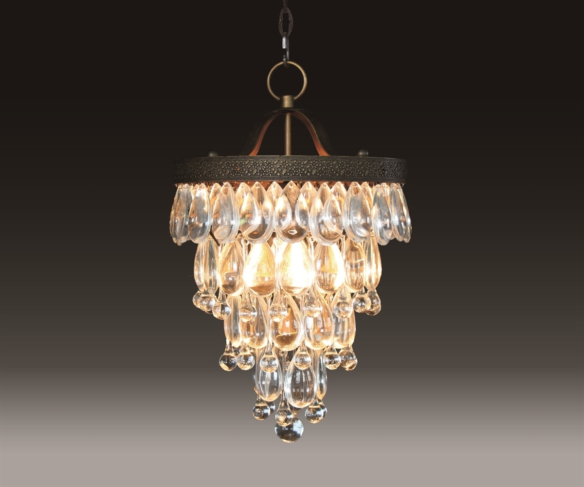 Glass Droplet Chandelier Inside Latest Bardolino Round Glass Drop Chandelier Chan8042 2S (Gallery 3 of 15)