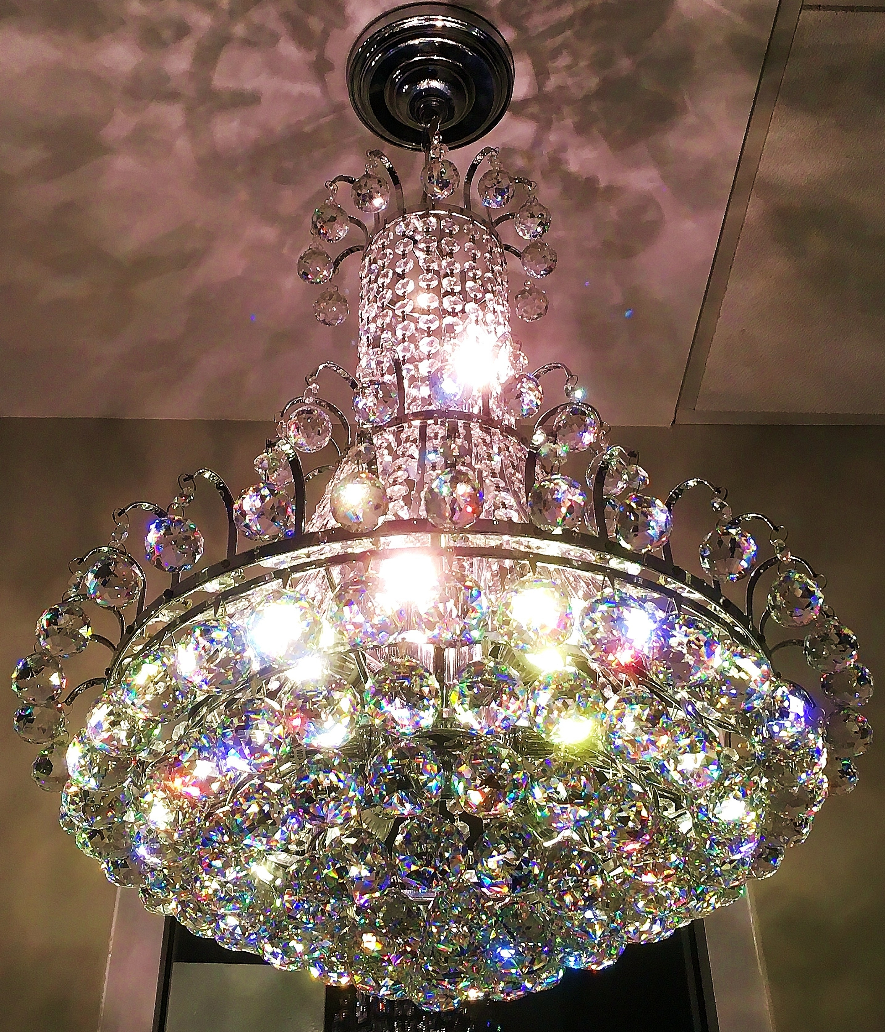 Glass Droplet Chandelier With Regard To Most Recent Isabella Of Madrid, 9L Grand Royal Cut Asfour Crystal Droplet (View 8 of 15)