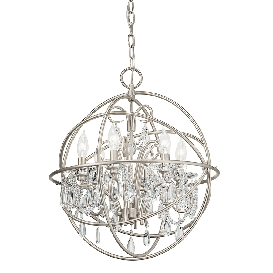 Globe Chandeliers in Fashionable Light : Beautiful Crystal Globe Chandelier Shop Kichler Lighting