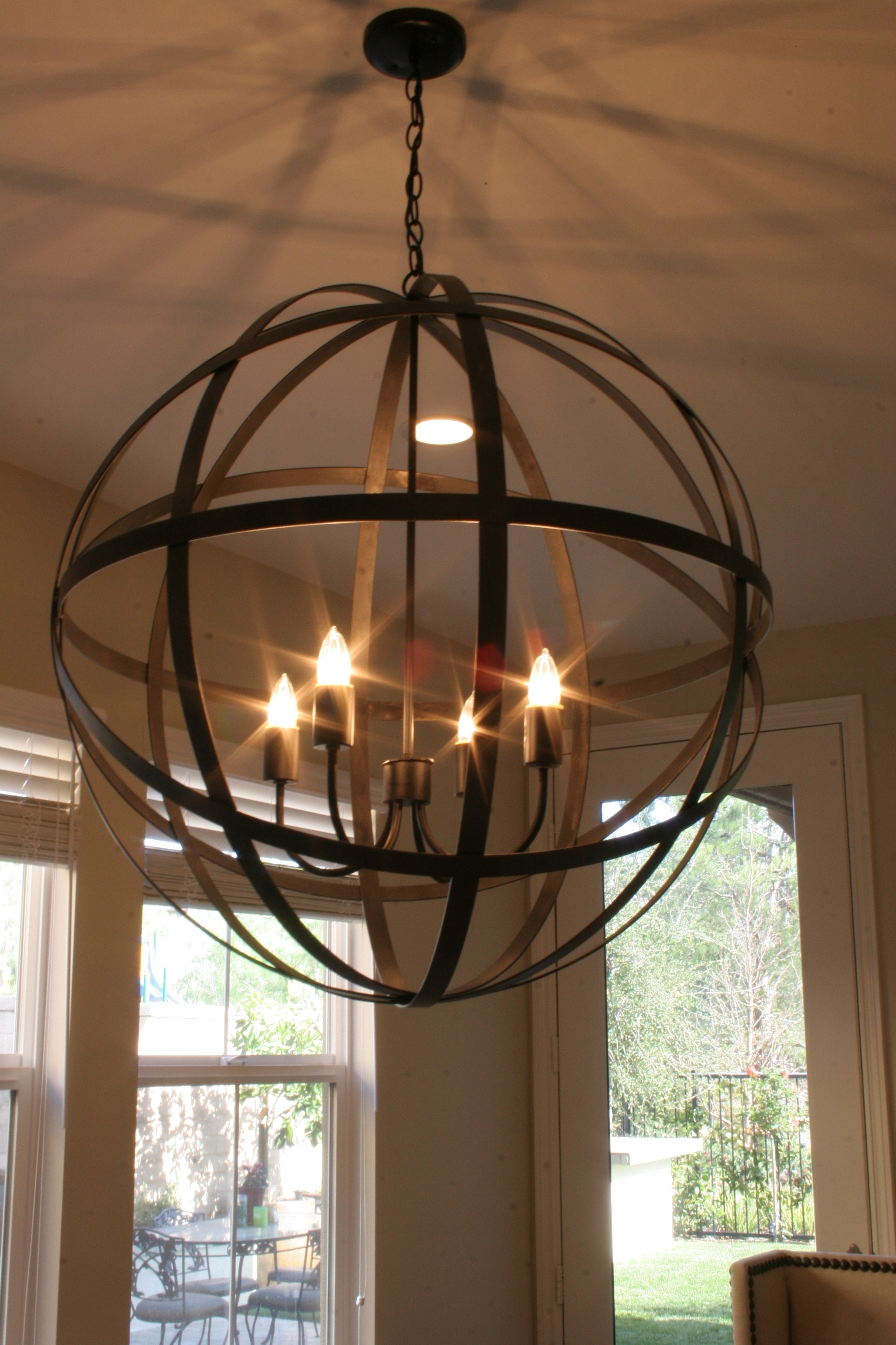 Globe Chandeliers Inside Well Known Restoration Hardware Chandelier – Get The Junk Store Guy To Make A (View 5 of 15)