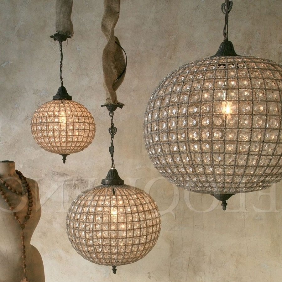 Globe Chandeliers With Regard To Current Lighting – Chandeliers – Eloquence Large Globe Chandelier – Cottage (View 10 of 15)
