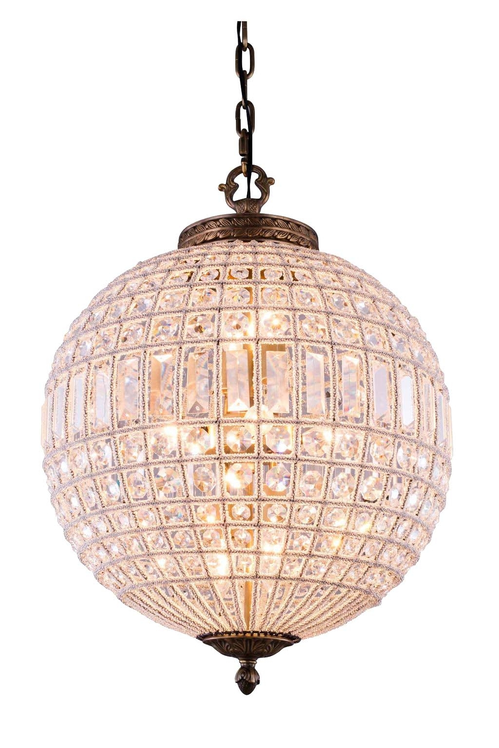 Globe Chandeliers Within 2018 Chandeliers Design : Magnificent Crystal Globe Chandelier Lucienne (View 7 of 15)