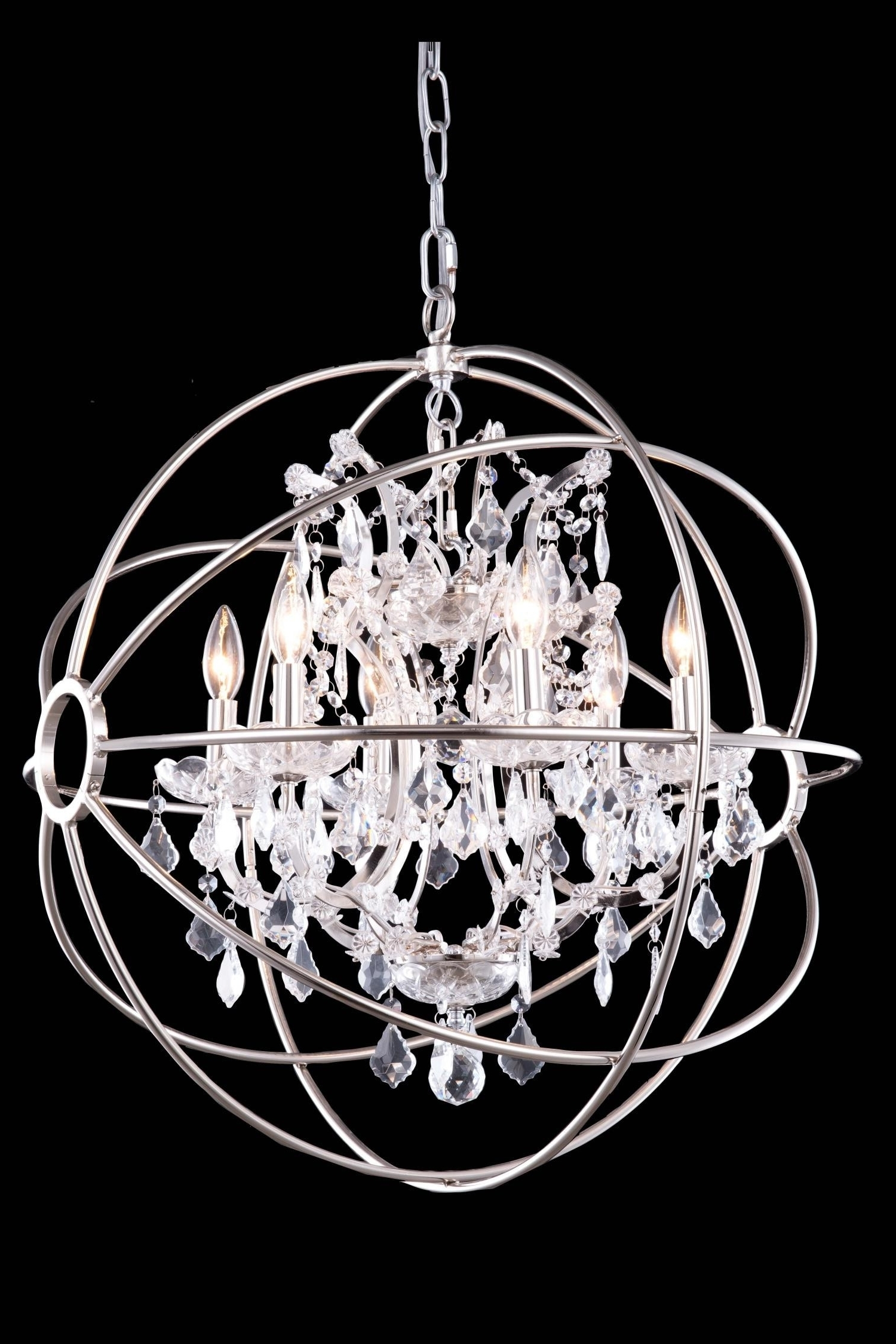 Globe Crystal Chandelier With Regard To Fashionable Chandeliers : Magnificent Large Crystal Chandeliers Elegant 12 Best (View 8 of 15)