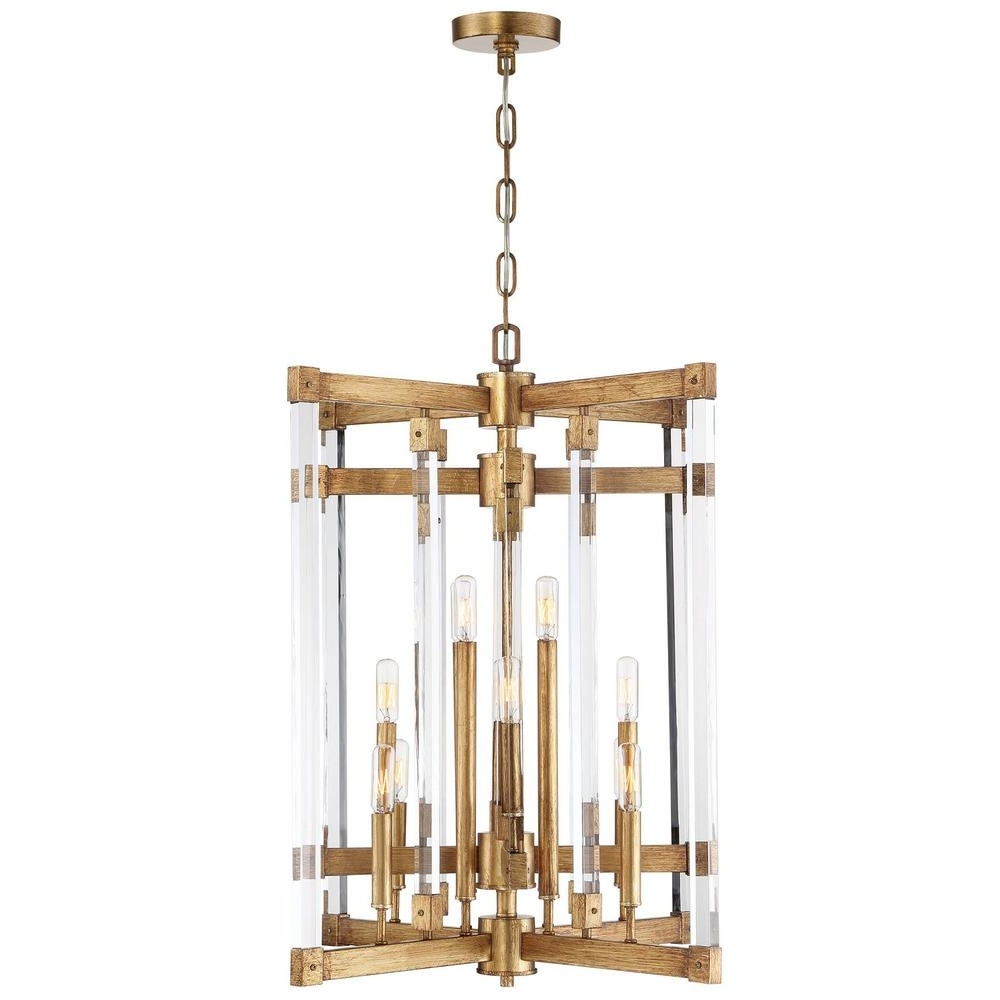 Gold Leaf Chandelier For Most Recently Released Varaluz Halcyon 12 Light Antiqued Gold Leaf Chandelier 292C12Agl (Gallery 15 of 15)
