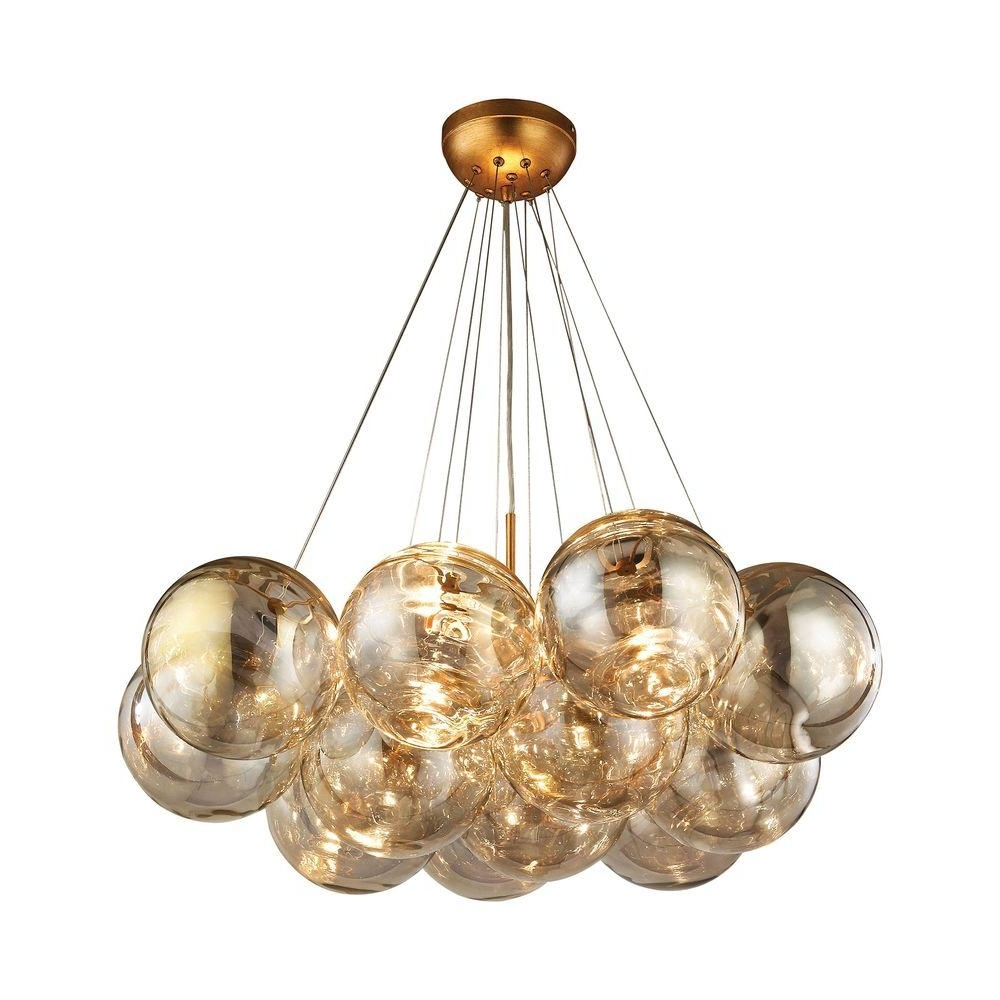 Gold Leaf Chandelier Throughout Current Titan Lighting Cielo 3 Light Antique Gold Leaf Chandelier Tn  (View 9 of 15)