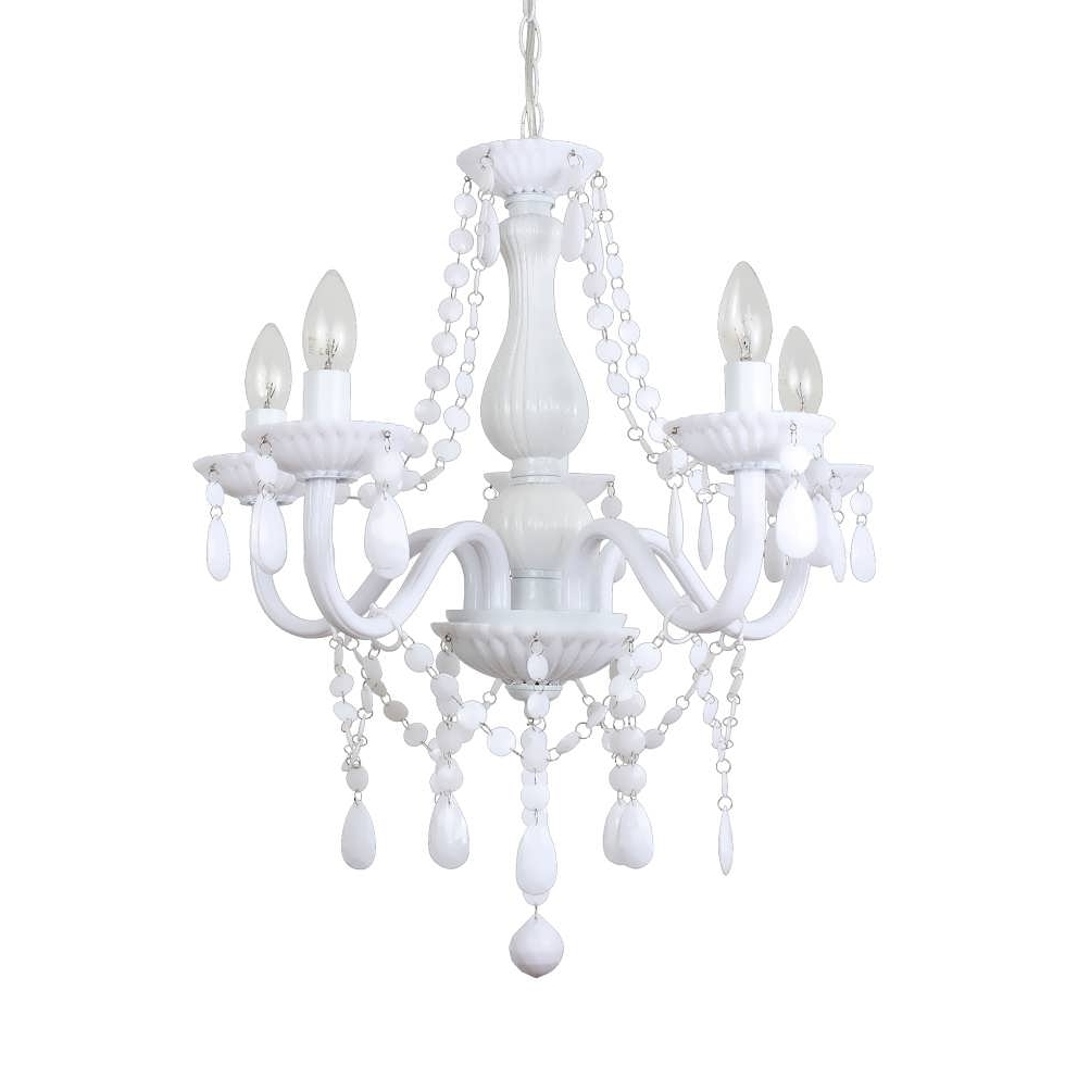 Graceful Small Chandeliers Lowes 23 Chandelier Floor Lamp Brushed Pertaining To Best And Newest Small White Chandeliers (Gallery 7 of 15)