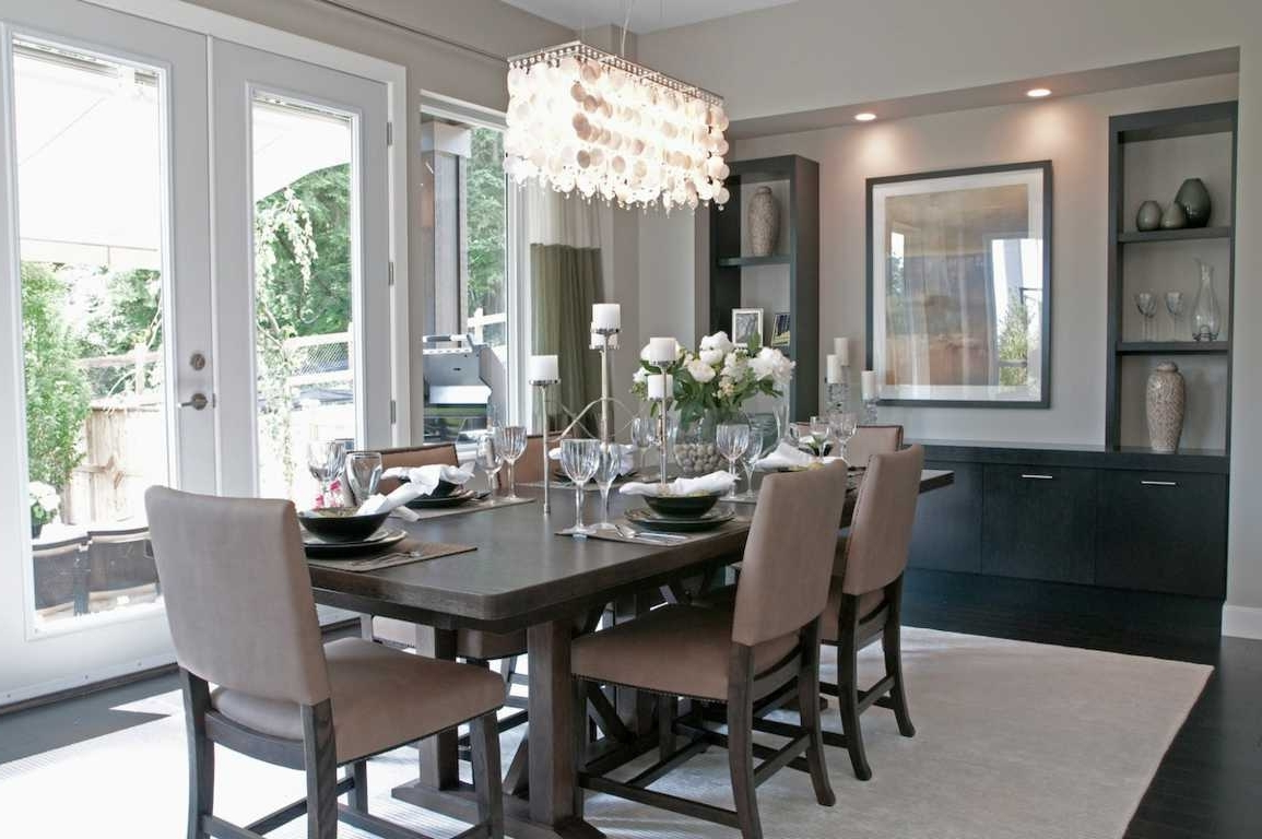 Grey Crystal Chandelier Pertaining To Newest Modern Decorating Grey Dining Room Idea Crystal Chandelier : Home (View 9 of 15)
