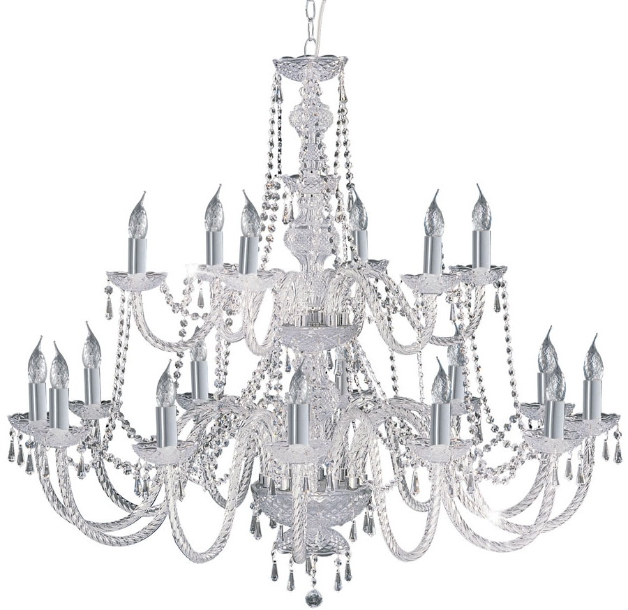Hale Georgian Style 18 Light Crystal Chandelier Chrome 17218 18 Within Famous Georgian Chandelier (View 6 of 15)