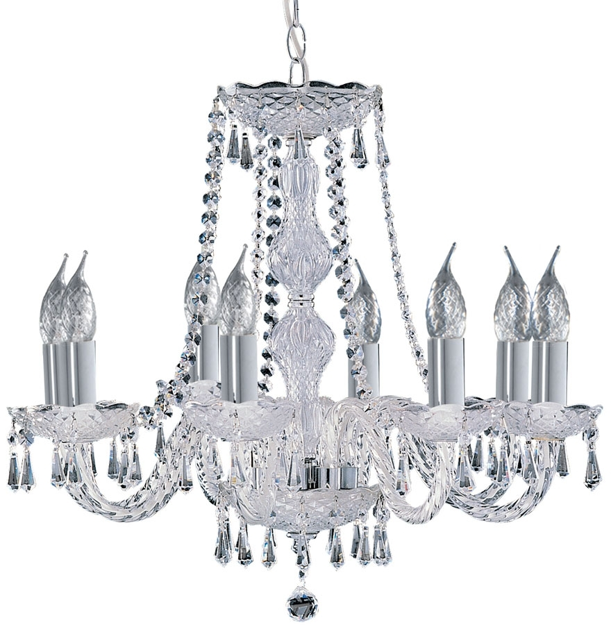 Hale Georgian Style 8 Light Crystal Chandelier 218 8 For Trendy Georgian Chandelier (View 7 of 15)