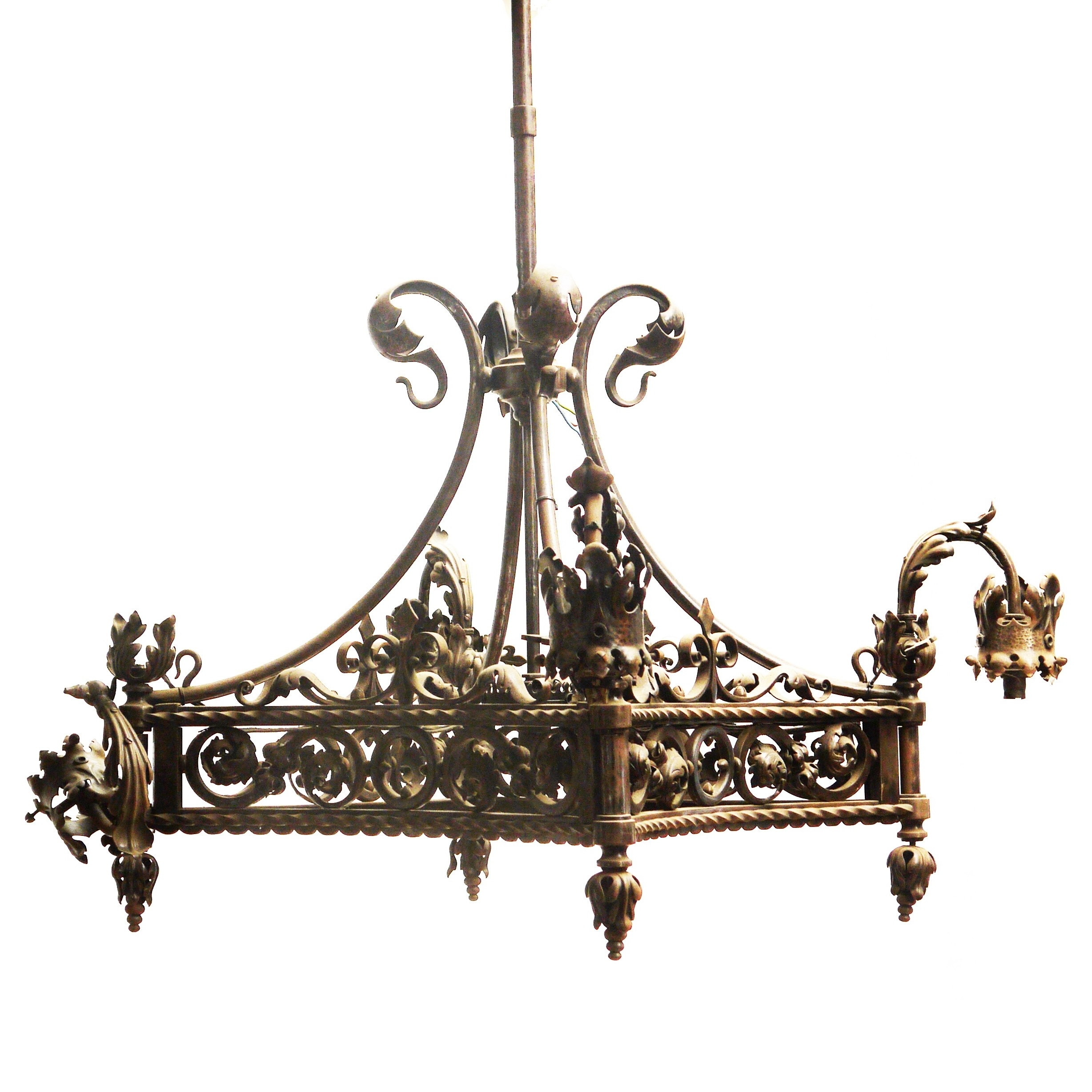 Home Design : Vintage Wrought Iron Chandelier Vintage Floral Wrought With Regard To Well Liked Vintage Wrought Iron Chandelier (View 6 of 15)