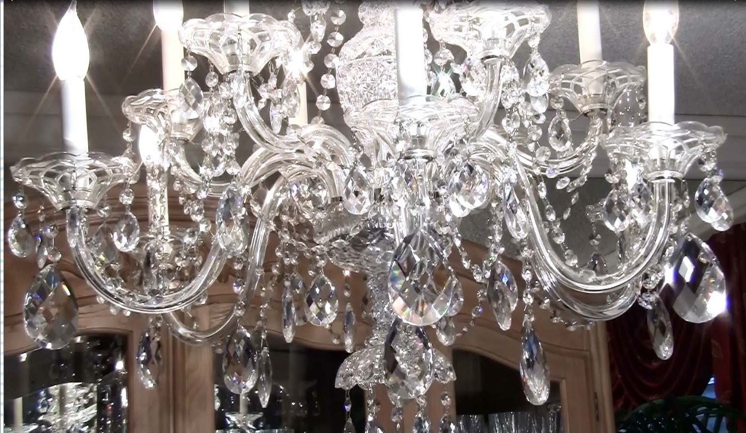 How To Clean A Crystal Chandelier – Youtube Within Current Expensive Crystal Chandeliers (View 4 of 15)