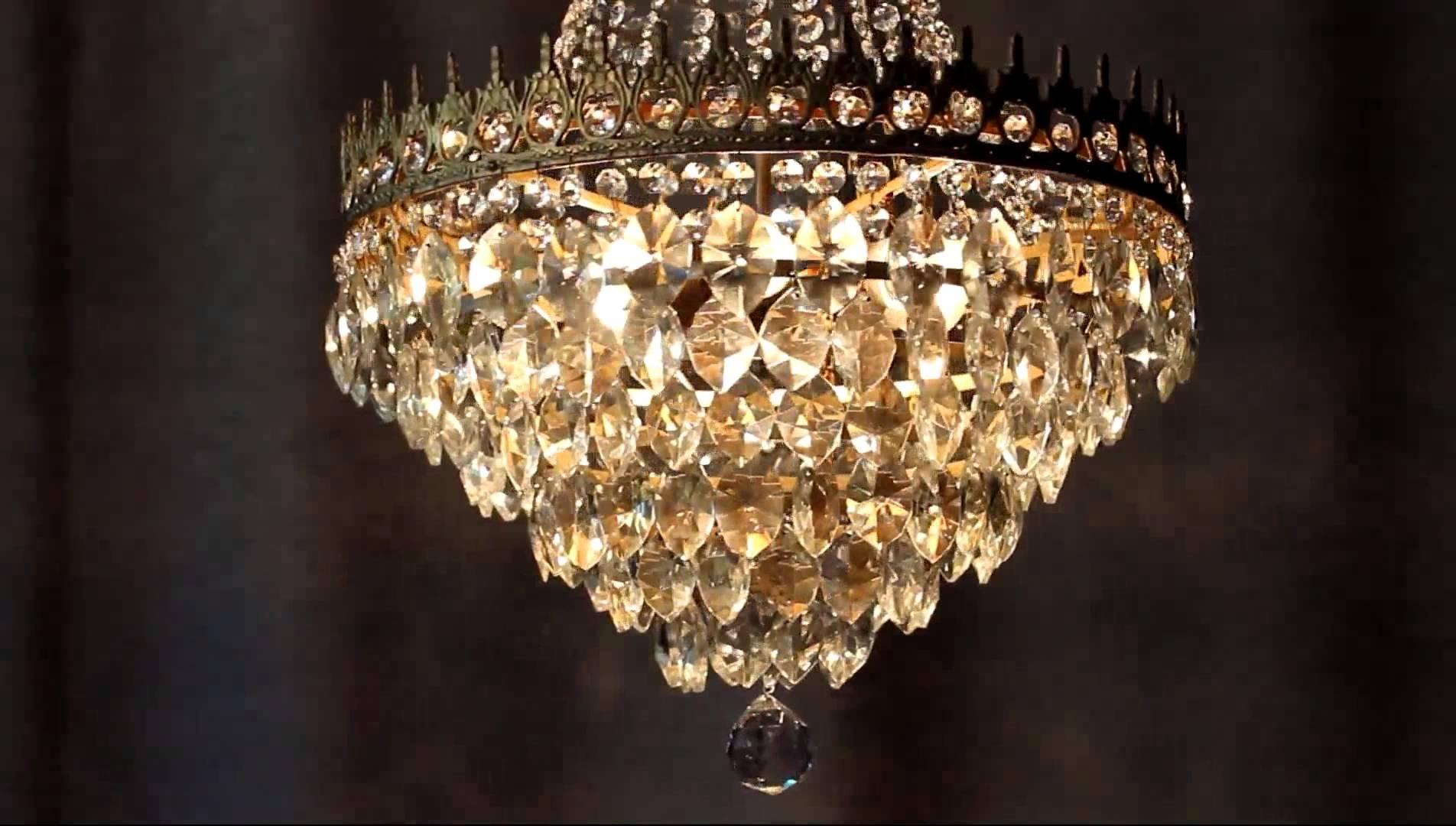 Huge Antique Luster Crystal Candelabra Chandelier Lighting Brass Old For Well Known Huge Crystal Chandelier (View 3 of 15)