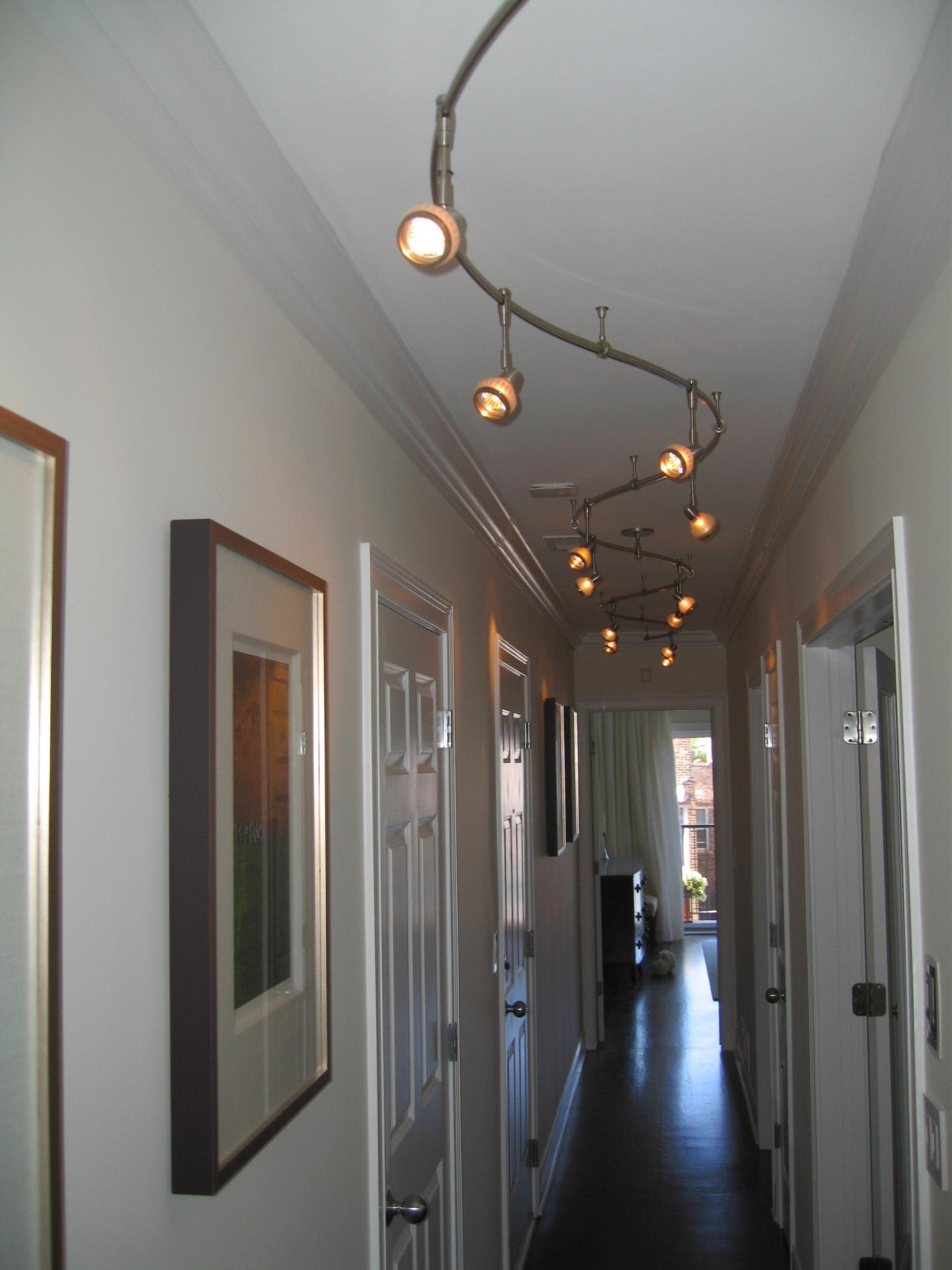 Interior. Magnificent Hallway Light Fixtures As Home Interior Design For Well Liked Hallway Chandeliers (Gallery 11 of 15)