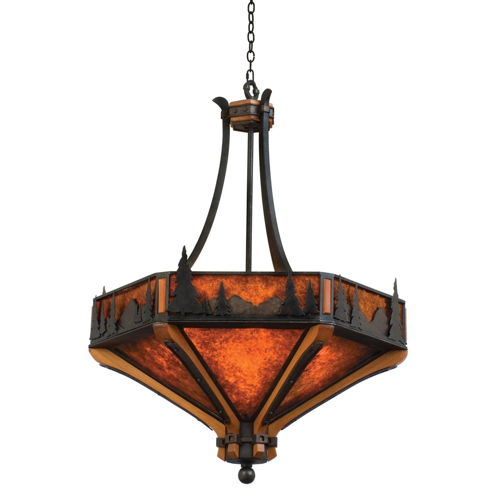 Inverted Pendant Chandeliers In Popular Light : Cozy Inverted Bowl Pendant Light Plus Rustic Chandeliers (View 4 of 15)