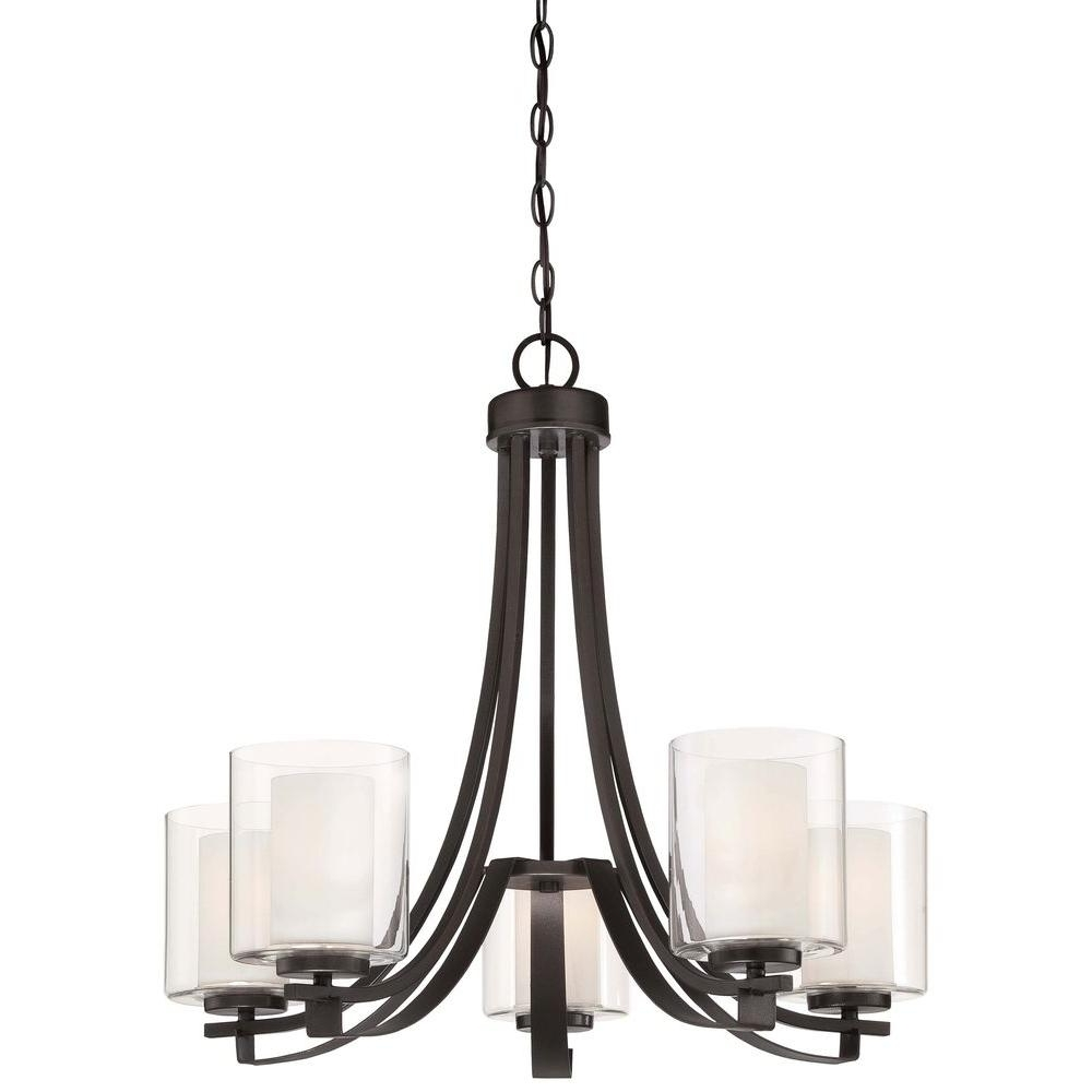 Iron Chandelier With 2018 Minka Lavery Parsons Studio 5 Light Smoked Iron Chandelier 4105 172 (Gallery 1 of 15)