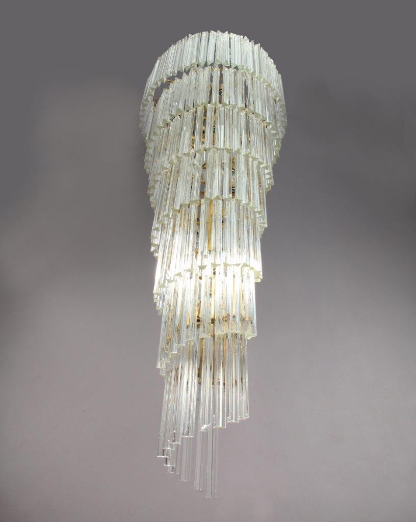 Italian Chandeliers Contemporary for Well-known Mid-Century Modern Italian Spiral Chandelier From Venini, 1950S For