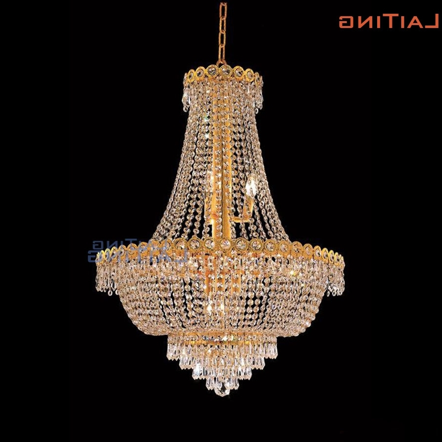 Italian Chandeliers Intended For Fashionable Laiting Dia 60Cm Classic Gold Vintage Retro Luxury Crystal (View 8 of 15)