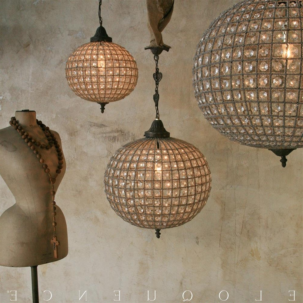 Kathy Kuo Home Intended For Widely Used Eloquence Globe Chandelier (View 8 of 15)