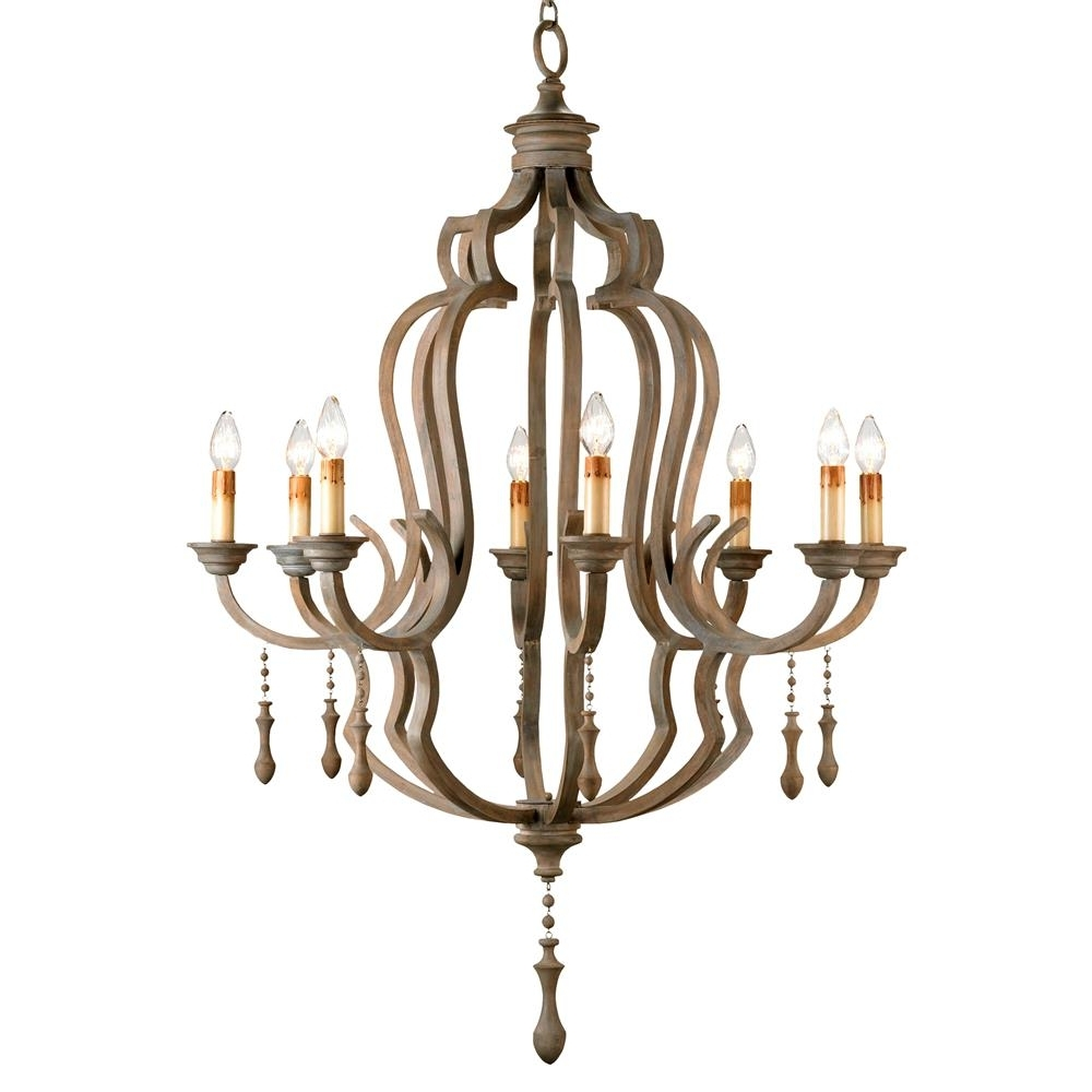 Kathy Pertaining To Most Popular French Wooden Chandelier (Gallery 1 of 15)