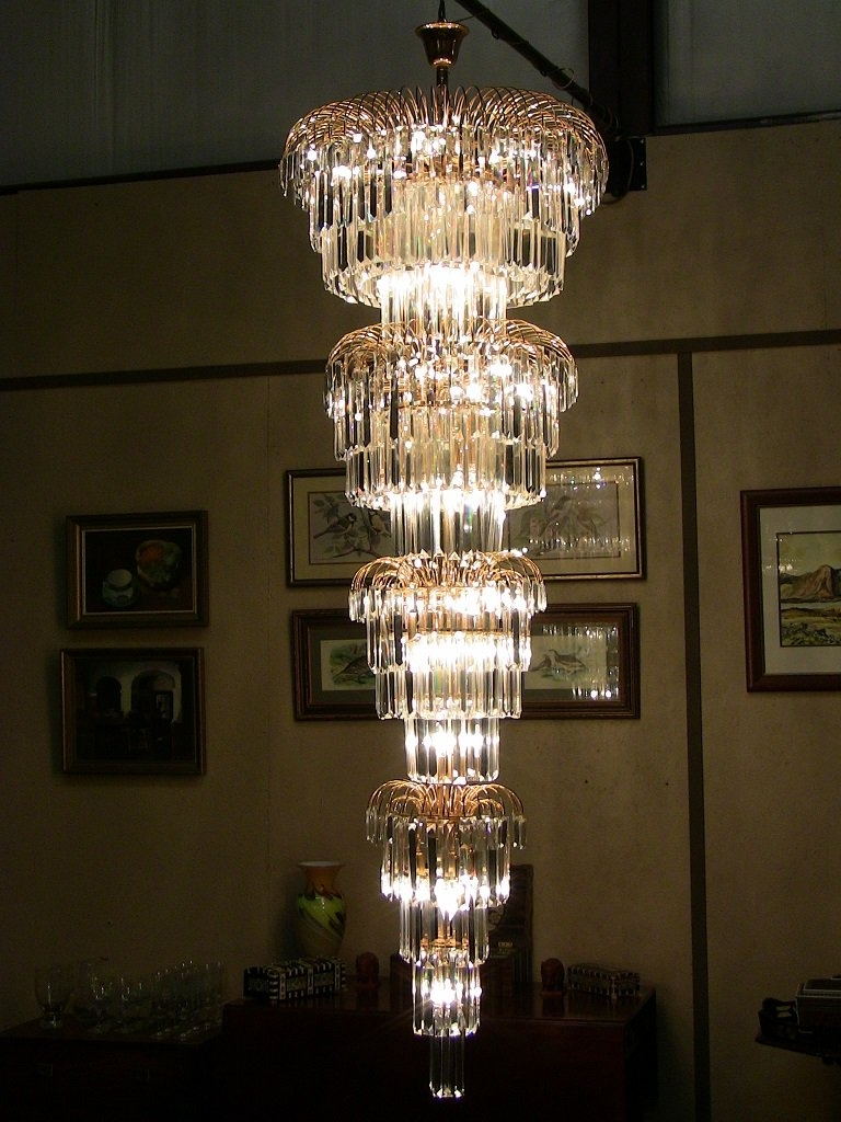 Large Art Deco Chandelier With Regard To Most Current Art Deco Style Multi Layered Swarofski Crystal Chandelier Extra (View 3 of 15)