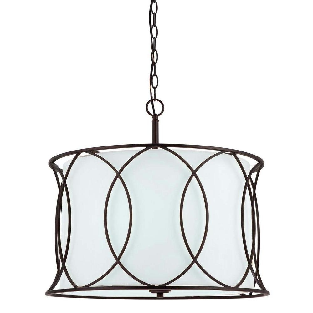 Large Bronze Chandelier Intended For Newest Canarm Monica 3 Light Oil Rubbed Bronze Chandelier Ich320A03Orb (View 6 of 15)