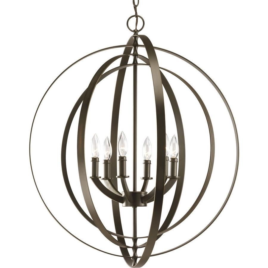 Large Bronze Chandelier With Regard To Current Shop Progress Lighting Equinox  (View 12 of 15)