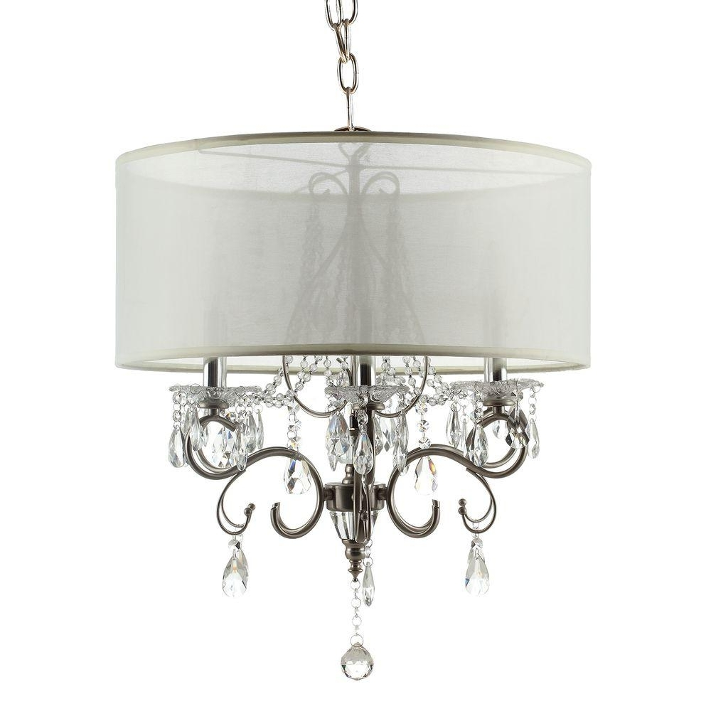 Large Chandeliers For Well Liked Homesullivan 6 Light Chrome Crystal Large Chandelier 40Ok 5109H (View 4 of 15)