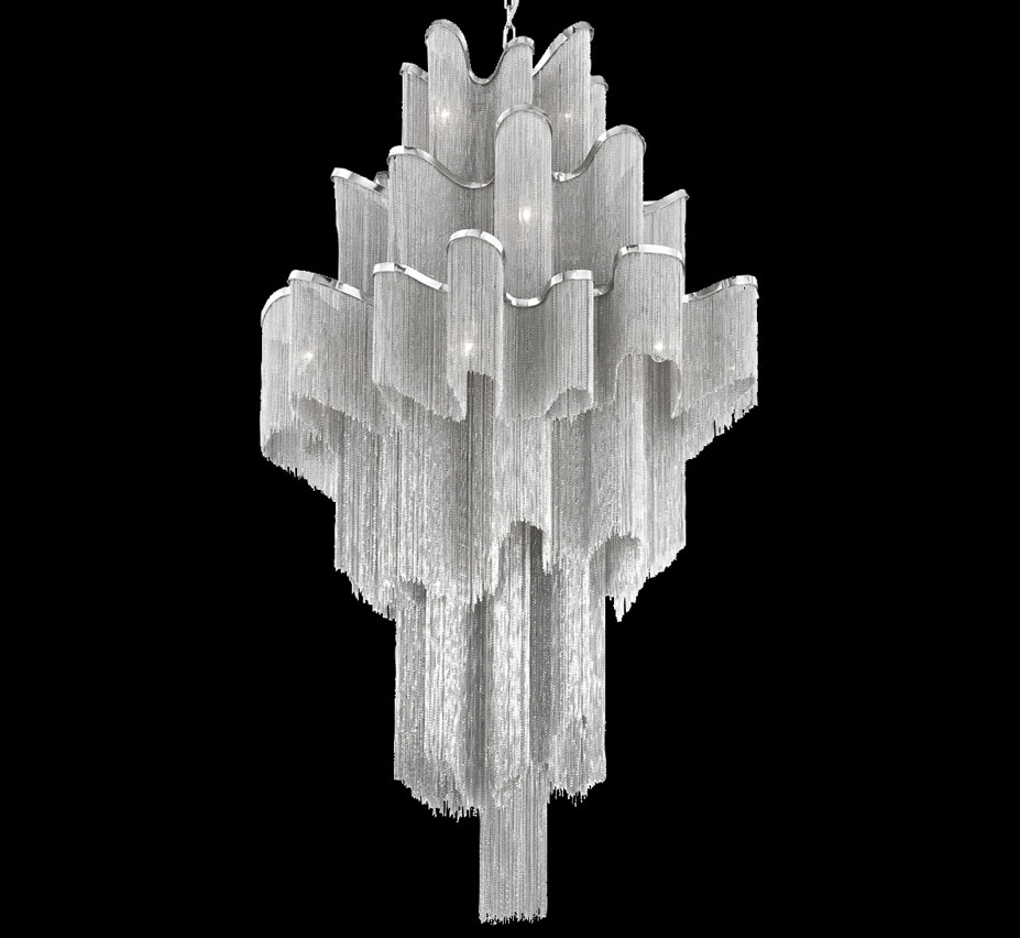Large Chandeliers Modern Regarding Well Known Cadena 16 Light Extra Large Contemporary Chandelier (View 7 of 15)