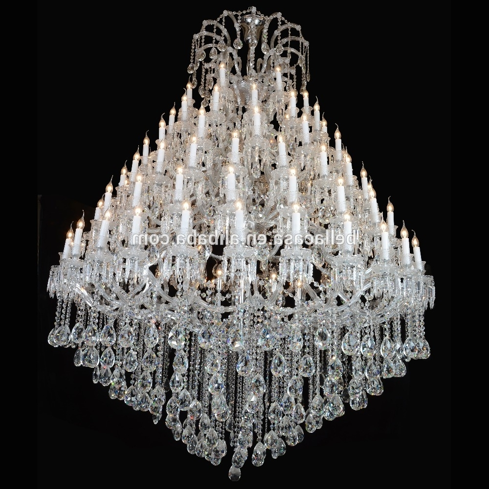 Large Crystal Chandeliers For Hotels, Large Crystal Chandeliers For Inside Most Recently Released Large Crystal Chandeliers (View 9 of 15)