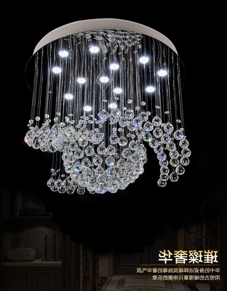Large Crystal Chandeliers Pertaining To Famous New Design Large Crystal Chandelier Lights Dia80*h100Cm Ceiling (View 6 of 15)