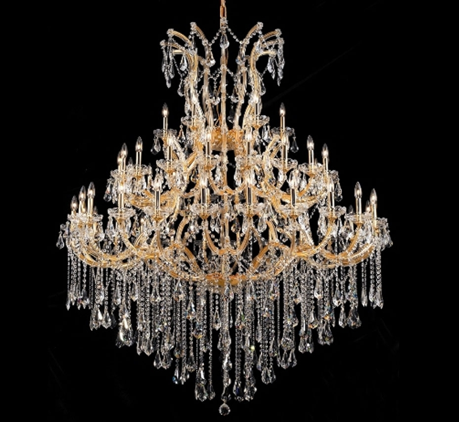 Large Crystal Chandeliers Within Popular Maria Theresa Collection 49 Light Extra Large Crystal Chandelier (View 7 of 15)
