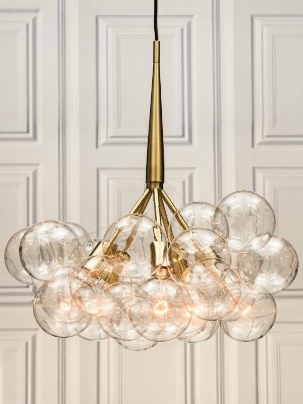 Large Glass Chandelier With Regard To Best And Newest Chandeliers Design : Amazing Large Glass Globe Chandelier Retro (View 8 of 15)