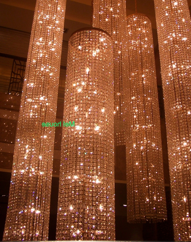 Large Long Crystal Chandelier Light Lampada Led Fixtures Hotel Pertaining To Well Known Long Chandelier Light (View 5 of 15)
