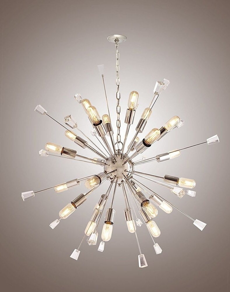 Large Mid Century Modern Sputnik Light Fixture /italian Starburst In Famous Large Modern Chandeliers (View 6 of 15)
