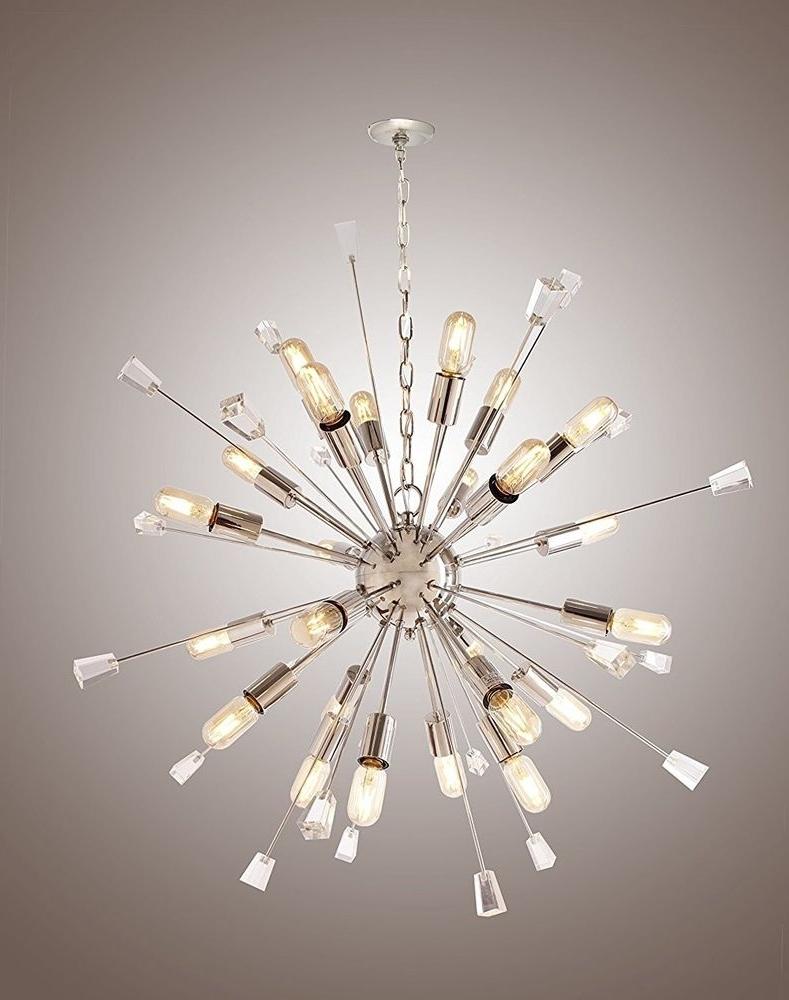 Large Mid Century Modern Sputnik Light Fixture /italian Starburst In Famous Large Modern Chandeliers (View 6 of 15)