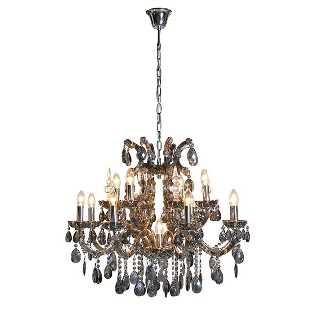 Large Smoked Glass Chandelier Throughout Popular Smoked Glass Chandelier (View 12 of 15)